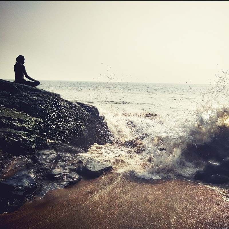 meditation on the rock