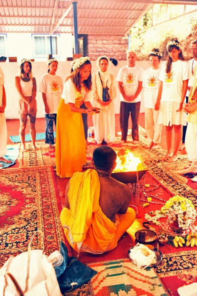 puja, havan homa ceremony