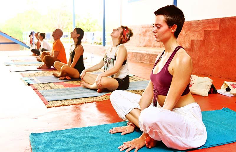meditation photo in shree hari yoga school in gokarna