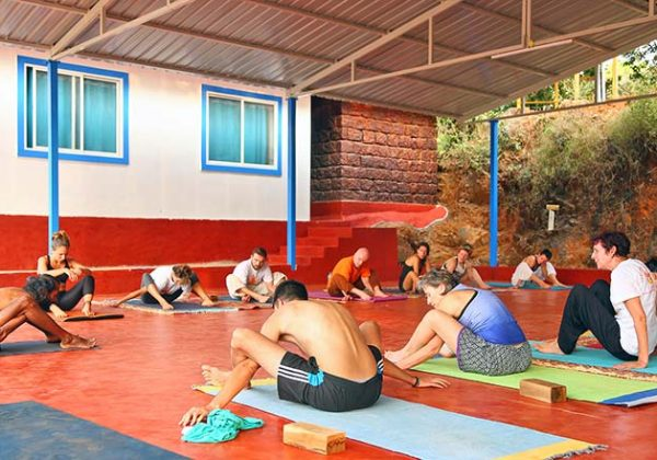 Students attending 200 hour Yoga teacher training course at Shree hari yoga school