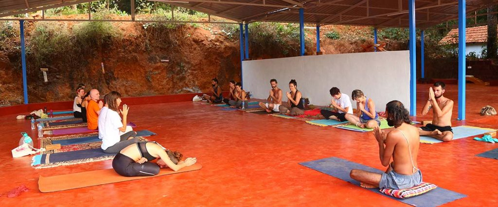 Hatha Yoga courses Shree Hari yoga School in India, in Gokarna, South India