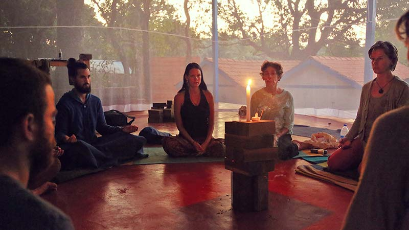 trataka meditation and kriya yoga for rejuvenating and relaxation, concentration and eye exercise