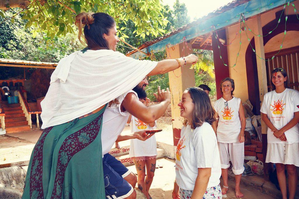 shree hari yoga gives yoga alliance certificates with ceremony