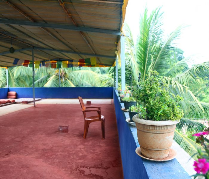 Yoga hall in Goa at Shree Hari Yoga