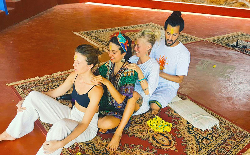 group massage as karma yoga