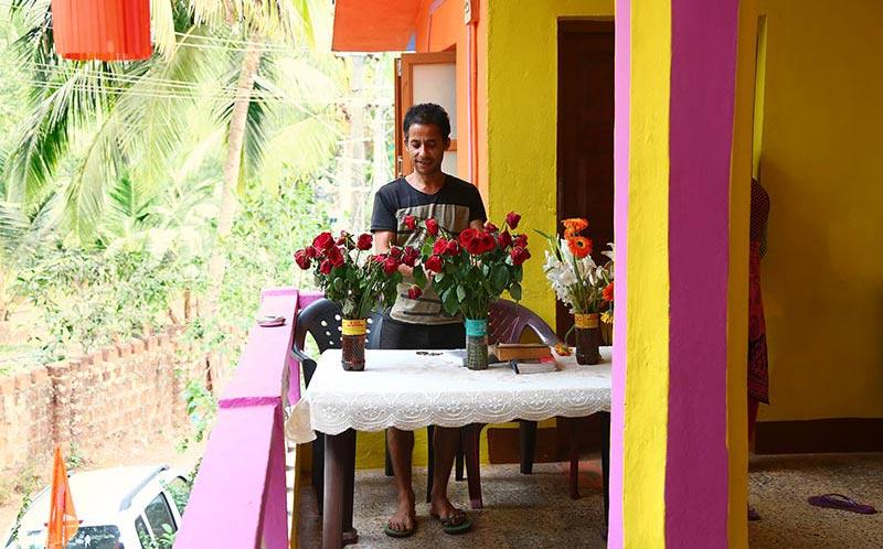 hospitality at the shree hari yoga hotel in mandrem beach goa