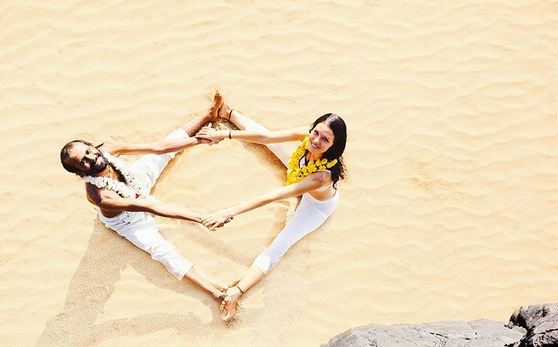 shree Hari yoga at the beach, yoga teacher training