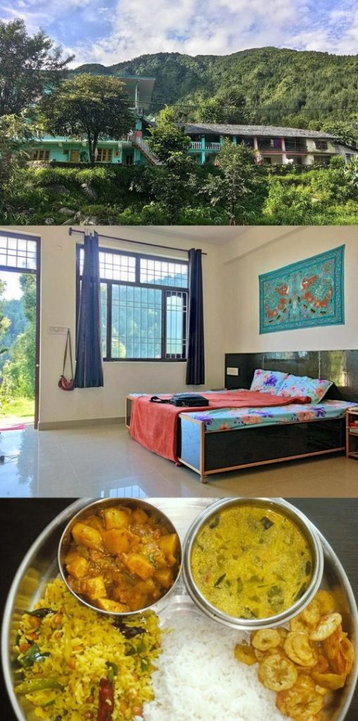 Accomadation for students at Yoga Teacher Training Course center Shree hari yoga school dharamsala