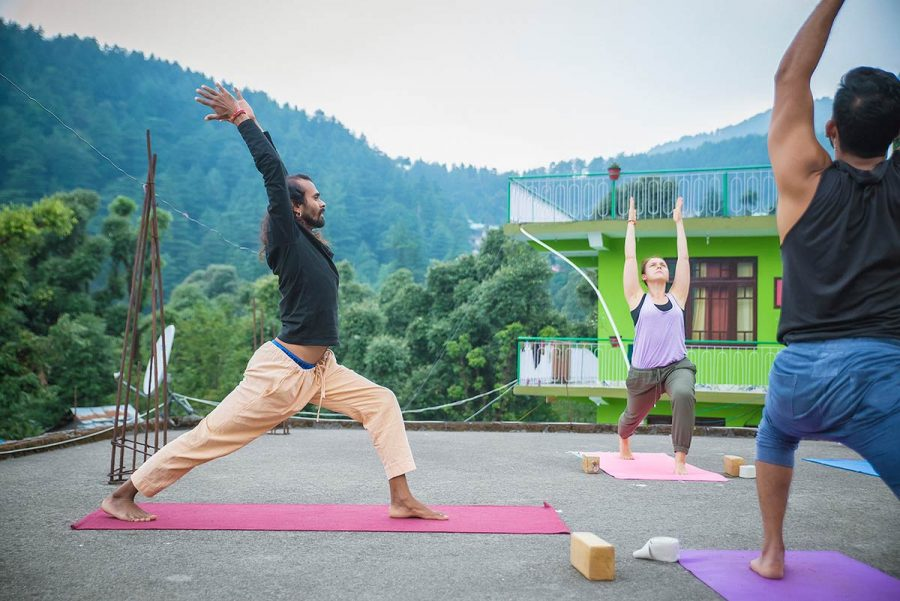 Warrior I Pose (Virabhadrasana I), ashtanga yoga, shree hari yoga
