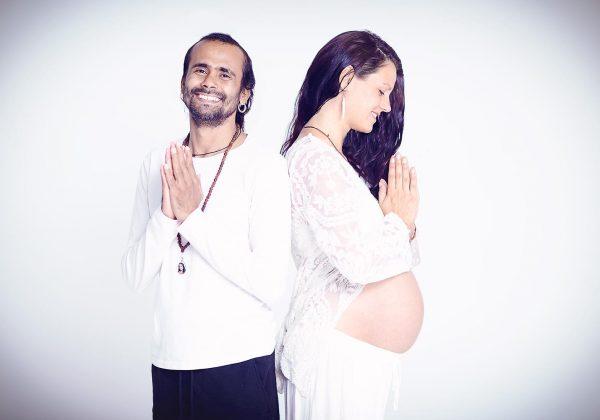 photo of pregnancy yoga couple, shree hari yoga